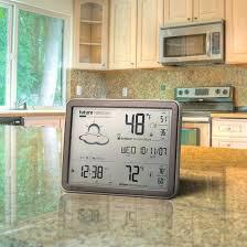 sharp weather station. ashton sutton spc1005wg sharp atomic weather wall clock clocks equity station o