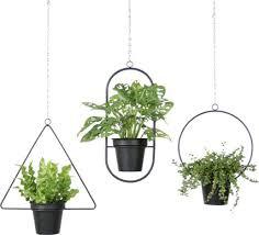 hanging plant stand flower pots 4pcs