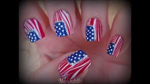 4TH OF JULY AMERICAN FLAG WATER MARBLE NAILS! - YouTube