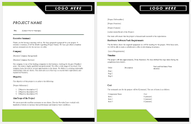 Project Proposal Templates For Ms Word Proposal Templates