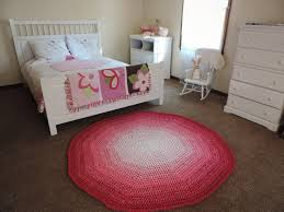 round pink rugs for nursery designs
