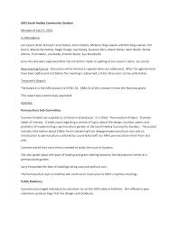 GRO South Hadley Community Gardens Minutes of July 17, 2014 In Attendance:  Jan Lieson, Brian Schrauf, Larry Dubois, Doris