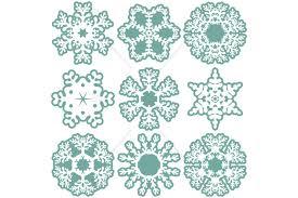 Download icon font or svg. Christmas Snowflakes Svg Cut Files Bundle 1086972 Cut Files Design Bundles