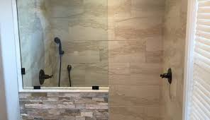 partition walk shower doorless pictures kit wall block standard curtain depot extraordinary half corner home height