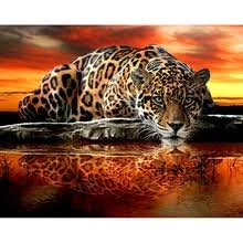 Buy 5d <b>diy diamond painting full</b> drill tiger and get free shipping on ...