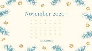 November 2020 Calendar Desktop ...