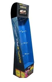In Store Display Stands Floor Display Stand with Plastic Hooks 41