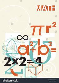 Maths Cover Design Mathematics Vector Cover Background Scientific Math Stock