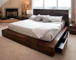 Elevated Platform Bed Frame Plans High Rise Platform Bed Frame Queen ...