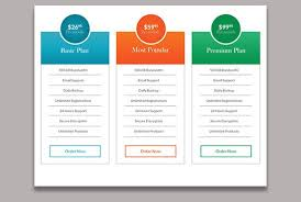 Table Chart Design I Will Design A Psd Pricing Table Chart Figure Diagram