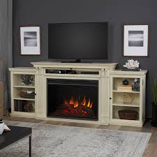 real flame 8720e dsw tracey grand entertainment with electric fireplace large distressed white