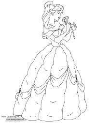 belle smelling a rose