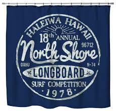 haleiwa hawaii north s blue surf shower curtain beach style shower curtains by extremely stoked
