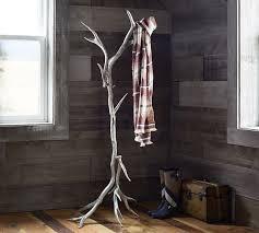 Wall Tree Coat Rack Projects Ideas Coat Rack Pottery Barn Lucy Antler Mercury Glass Kids 73