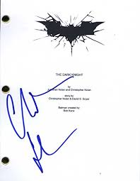 How To Do A Cover Page Cool Christian Bale Autographed Signed The Dark Knight Script Cover Page