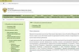 Размещение авторефератов диссертаций на сайте ВАК порядок Войти на сайт ВАК Присуждение ученых степеней png