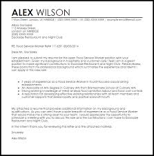 cover letter for food service food service worker cover letter sample cover letter