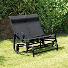 havana black twin seat glider outdoor