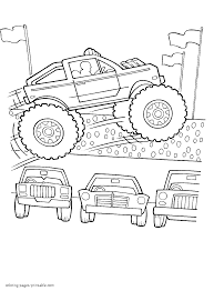 Monster Truck Printable Coloring Pages Coloring Pages Printablecom