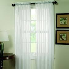 home classics crushed voile window panel rod on window frame instead of wall