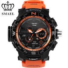 online get cheap mens orange watches aliexpress com alibaba group race sport style orange youthful vigor manner men dual display watch speacial metal ring smael