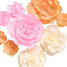 Made Flower With Paper Lings Moment Paper Flower Decorations 9 X Crepe Paper Peonies 8 4 Assorted Handcrafted Paper Flowers For Wall Party Wedding Backdrop Baby