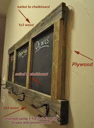 diy coat rack chalkboard