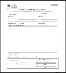 Budget Request Form Simple Capital Expenditure Template Capital Budgeting Excel Template