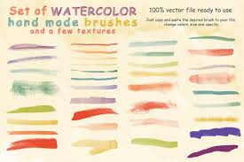 free watercolor brushes illustrator watercolor brushes and textures brushes creative market