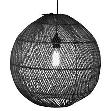 Hanglamp Zwart Rotan Citrus 45cm Rotan Hanglamp Meer Met Sfeer