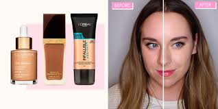 6 of the best foundations for dry skin tested on half a face