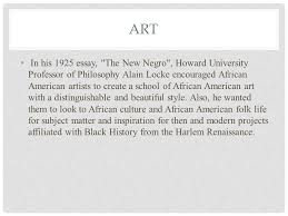 harlem renaissance s to s ppt video online  10 art in his 1925 essay