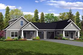 cottage country craftsman multi family plan 41262 elevation