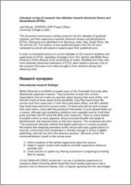 What is the purpose of literature review pdf   www yarkaya com Template net International Literature Review  Ethical Issues in Undertaking Research With Children and Young People