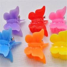 <b>100pcs mixed Color butterfly</b> clips for kids Plastic Butterfly Mini Hair ...