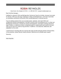 Facilities Technician Cover Letter hr team leader cover letter