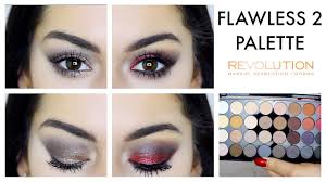 1 palette 2 looks makeup revolution flawless 2 eyeshadow palette you