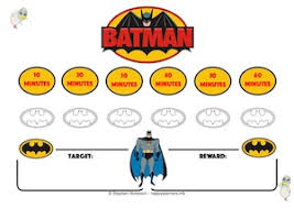 Batman Behavior Chart Happy Learners Reward Systems Batman Character