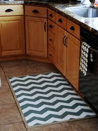 bright and modern chevron kitchen rug astonishing decoration navy