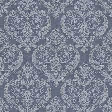 Calico Damask Wallpaper Blue ...