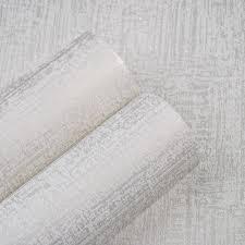 Beste Koop Glitter Metallic Witte Vlakte Behang Voor Slaapkamer