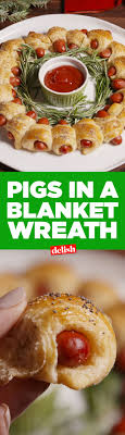 Pigs In A Blanket Wreath. Christmas Dinner Food IdeasHoliday Appetizers  Christmas PartiesChristmas ...