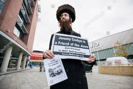 Image result for Orthodox Jews outside Labour conference
