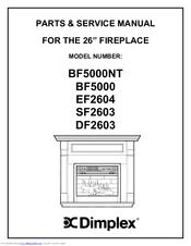 Dimplex DF2603 Manuals