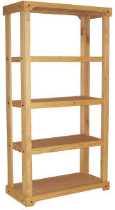 Wooden Retail Shelving Unit with 3 Shelves, Open Back with Oak Finish.  Great for