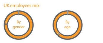 Uk Employees Mix Pie Chart 2012 Employees Mix Annual