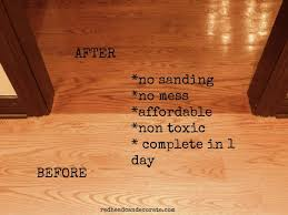 sandless floor refinishing great for preparing for the holidays