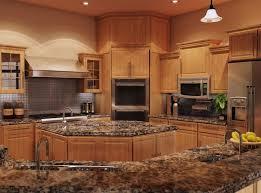 Innovation Kitchen Backsplash Oak Cabinets Quartz Countertops With Honey Island To Simple Design