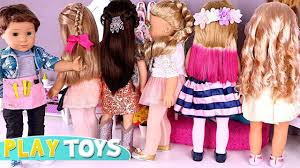 baby doll hair cut makeup beauty salon ag toys