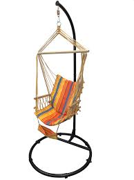 petra leisure 84 black c top hammock chair stand and fiesta striped